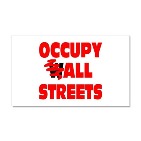 Occupy All Streets Car Magnet 20 x 12