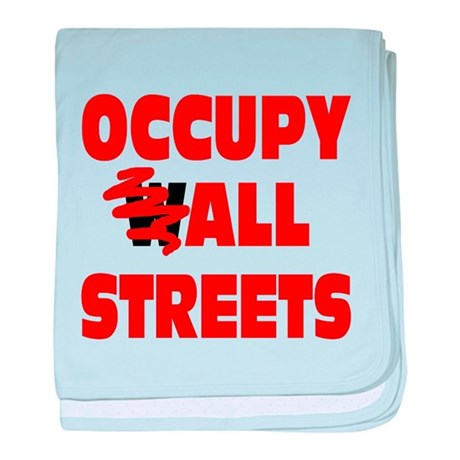 Occupy All Streets baby blanket