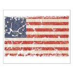 13 Colonies US Flag Distresse Small Poster
