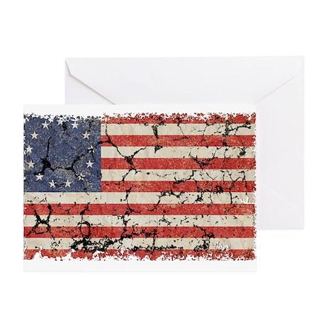 13 Colonies US Flag Distresse Greeting Card