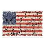 13 Colonies US Flag Distresse Postcards (Package o