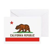 California State Bear Flag Greeting Cards (6)