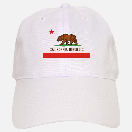 California State Bear Flag Baseball Baseball Cap