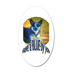 """Blue By You"" 20x12 Oval Wall Decal"