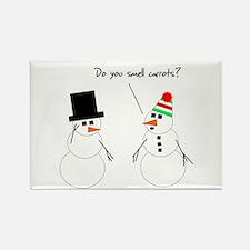 Snowman Smells Carrots Rectangle Magnet
