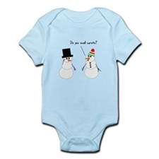 Snowman Smells Carrots Infant Bodysuit
