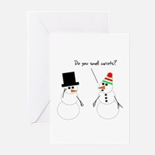 Snowman Smells Carrots Greeting Cards (Pk of 20)