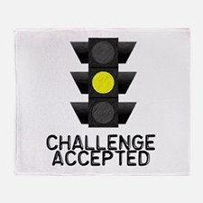 Challenge Accepted Yellow Lig Throw Blanket