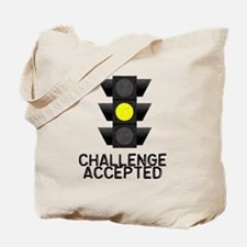 Challenge Accepted Yellow Lig Tote Bag