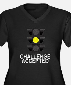 Challenge Accepted Yellow Lig Women's Plus Size V-