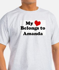 My Heart: Amanda Ash Grey T-Shirt