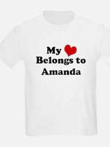 My Heart: Amanda Kids T-Shirt