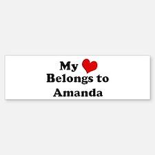 My Heart: Amanda Bumper Bumper Bumper Sticker