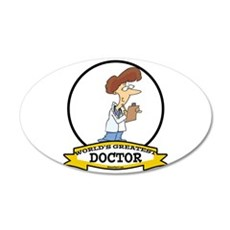 WORLDS GREATEST DOCTOR LADY CARTOON 22x14 Oval Wal