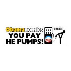 """You Pay, He Pumps!"" 21x7 Wall Peel"