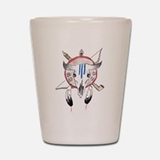 Indian Buffalo Skull Shot Glass