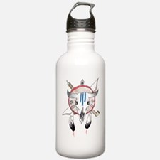 Indian Buffalo Skull Water Bottle