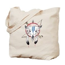 Indian Buffalo Skull Tote Bag