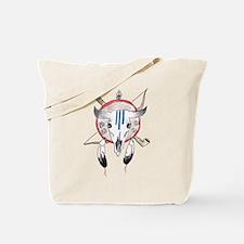 Indian Buffalo Skull Tote Bag