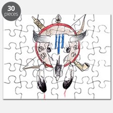 Indian Buffalo Skull Puzzle