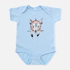 Indian Buffalo Skull Infant Bodysuit