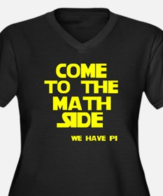 Come to the math side Women's Plus Size V-Neck Dar