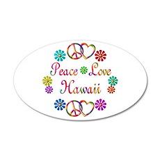 Peace Love Hawaii 22x14 Oval Wall Peel