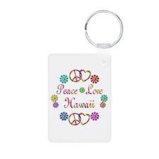 Peace Love Hawaii Keychains