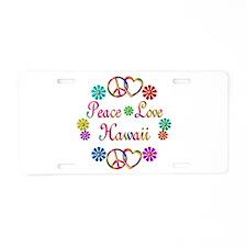 Peace Love Hawaii Aluminum License Plate