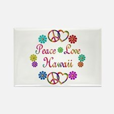 Peace Love Hawaii Rectangle Magnet (10 pack)