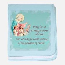 Pray for Us baby blanket