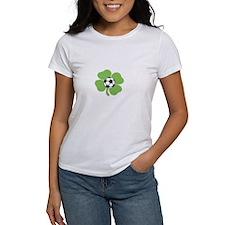 Cute Ireland soccer shamrock Tee