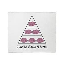 Zombie Food Pyramid Throw Blanket