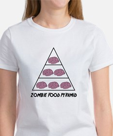 Zombie Food Pyramid Women's T-Shirt