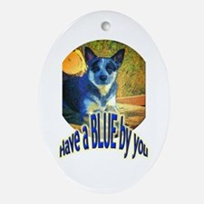 """""""Blue By You"""" Ornament (Oval)"""