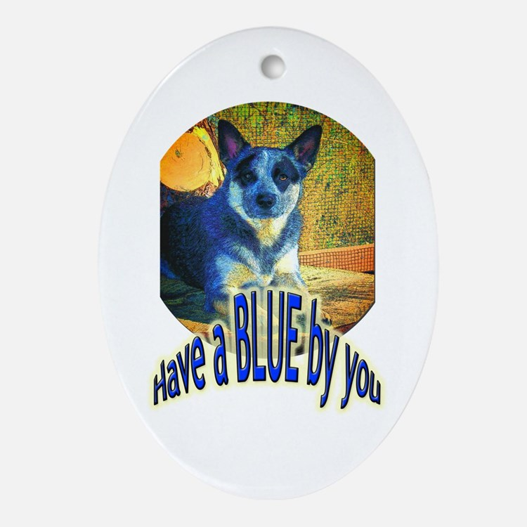 """Blue By You"" Ornament (Oval)"