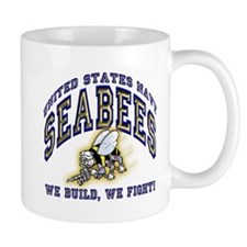 US Navy Seabees Blue and Gold Small Mug