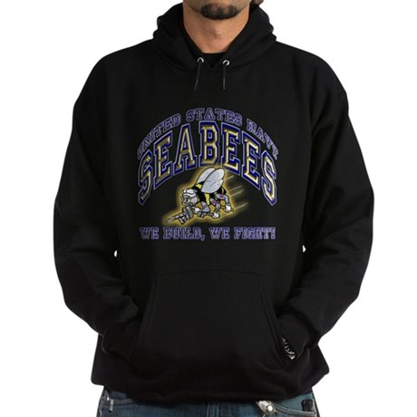 US Navy Seabees Blue and Gold Hoodie (dark)