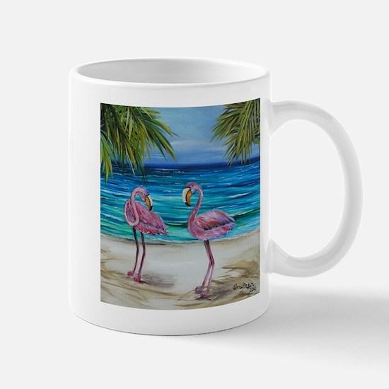 Loving Pink Flamingos Mug