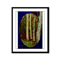 Birch Tree Delight Gifts Framed Panel Print