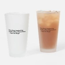 Borges library quote - Englis Drinking Glass