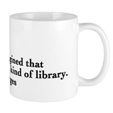 Borges library quote - Englis Small Mug