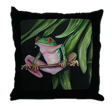Fun frogs #1 Throw Pillow