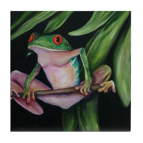 Fun frogs #1 Tile Coaster