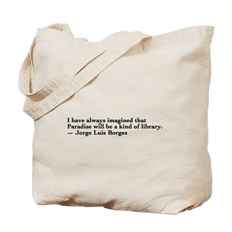 Borges library quote - Englis Tote Bag