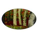 Birch Tree Delight Gifts Sticker (Oval 10 pk)