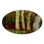 Birch Tree Delight Gifts Sticker (Oval)