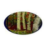 Birch Tree Delight Gifts 38.5 x 24.5 Oval Wall Pee