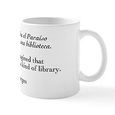Borges library quote-Bilingual Small Mug