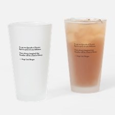Borges library quote-Bilingual Drinking Glass